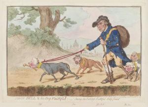 Джеймс Гилрей. Карикатура. 1796 г.