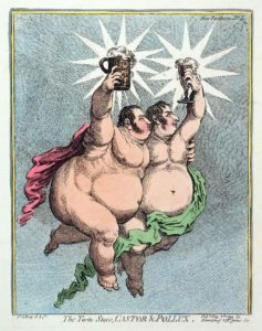 Джеймс Гилрей. Карикатура «Звезда с звездою». XVIII в.