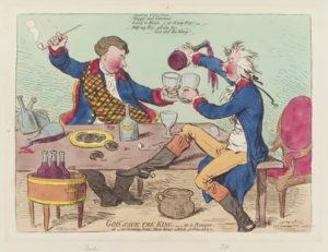 Джеймс Гилрей. Карикатура «Боже, храни короля!». XVIII в.