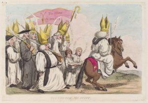 "Джеймс Гилрей. Карикатура «Армия церкви""». XVIII в."