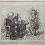 Джеймс Гилрей. Карикатура «Прочь, заботы и печали». XVIII в.