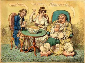 Джеймс Гилрей. Карикатура. XVIII в.