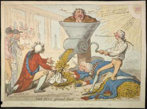 Джеймс Гилрей. Карикатура «Выжать все соки». XVIII в.