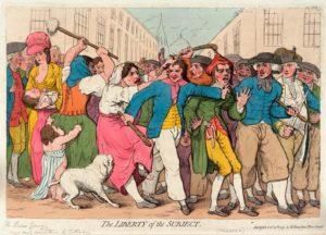 """Джеймс Гилрей. Карикатура """"Свобода личности"""". 1799 г."""